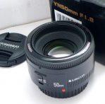 Jual Lensa Fix Yongnuo 50mm f1.8 for Canon ( Baru )