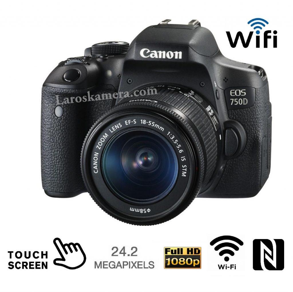Jual Kamera Canon EOS 750D Wifi baru di malang