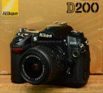Jual Kamera DSLR Nikon D200 + lensa Nikon 18-55mm VR2 Bekas