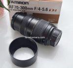 Jual Lensa Tamron 70-300mm Mount Nikon Bekas