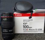Jual Lensa Canon 100mm f2.8L IS USM Bekas