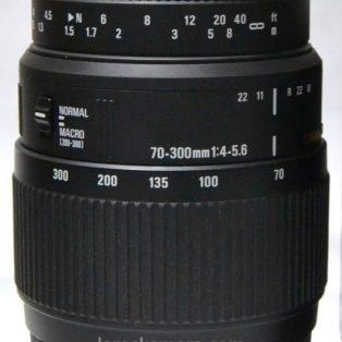 Jual Lensa Sigma 70-300mm DG Macro For Nikon Bekas