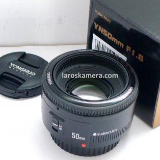 Jual Lensa Fix Yongnuo 50mm f1.8 for Canon Bekas Fullset