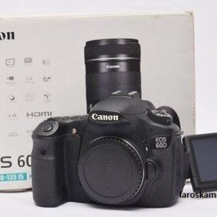 Jual Kamera DSLR Canon EOS 60D Body Only Fullset Bekas